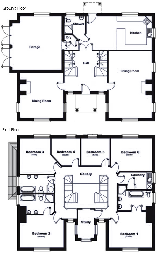 Old English Manor House Floor Plans - House Plans