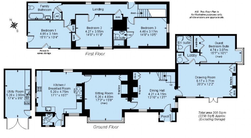 Floor plan of Dusky Cottage