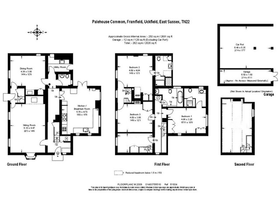 Floor plan of Hummingbird House