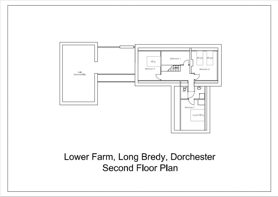 Floor plan of Kingfisher Farm