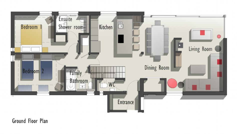 Floor plan of Montana