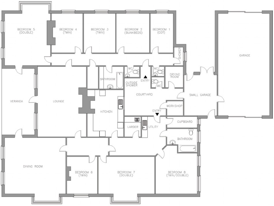 Floor plan of Northcott Beach House