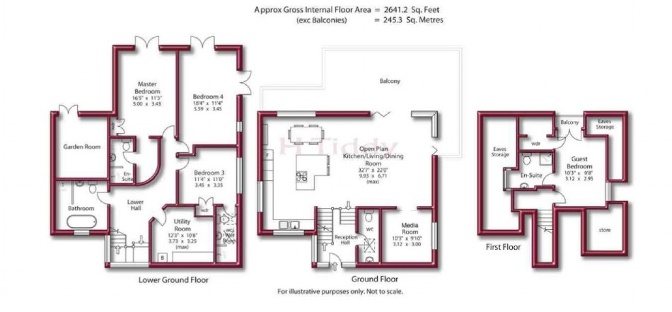 Floor plan of River House