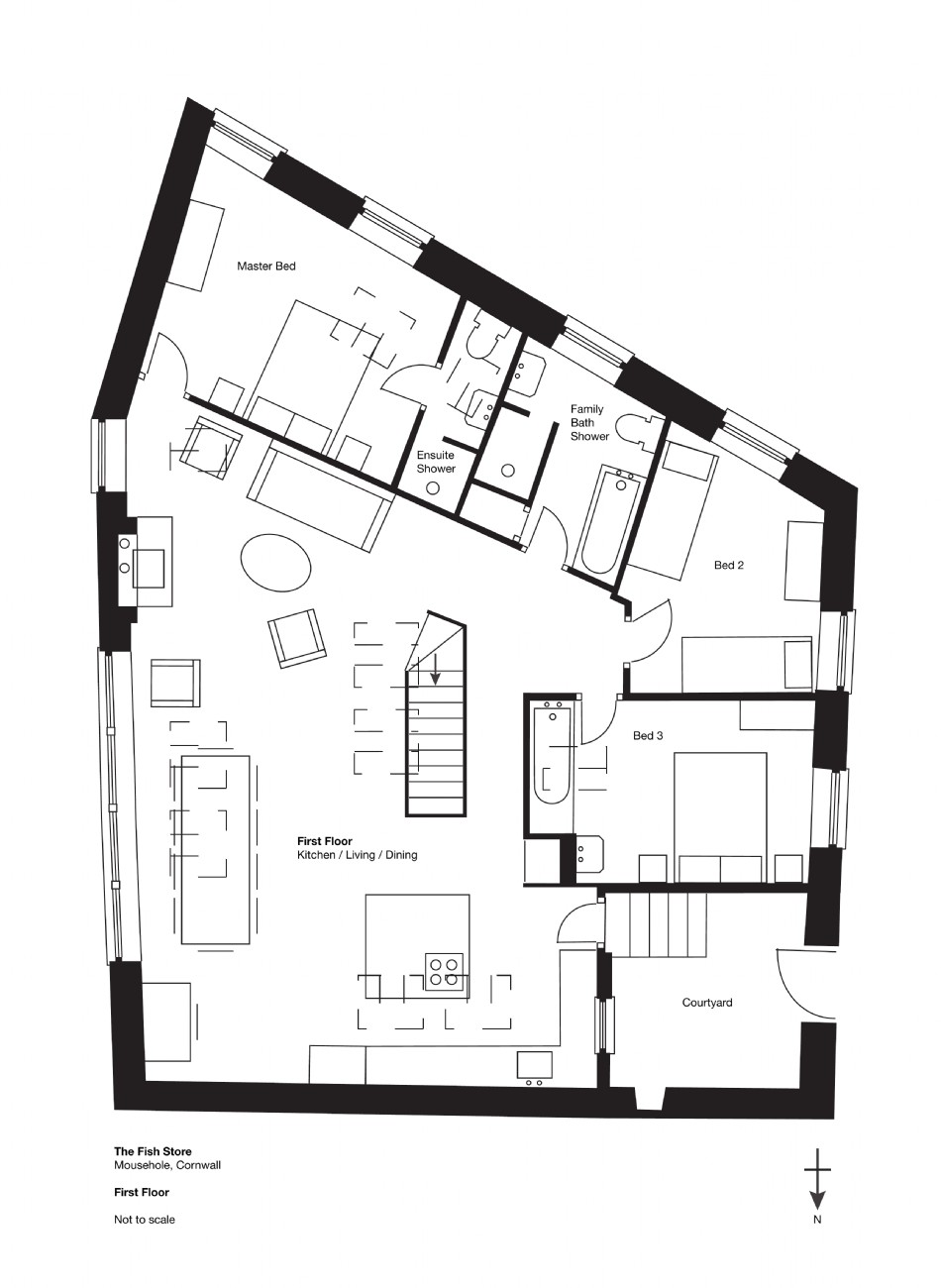 Floor plan of The Fish Store