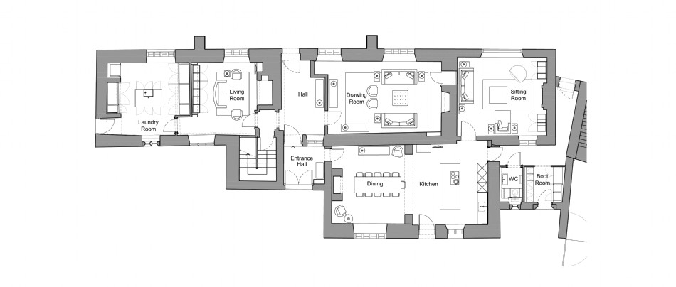 Floor plan of The Old Monastery