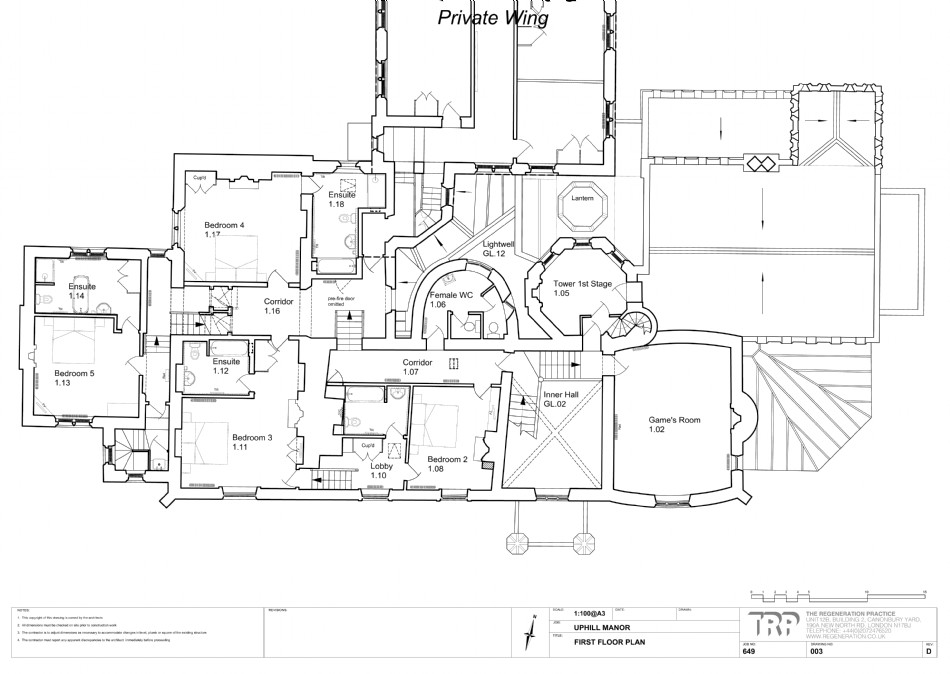 Floor plan of Thornemead Castle