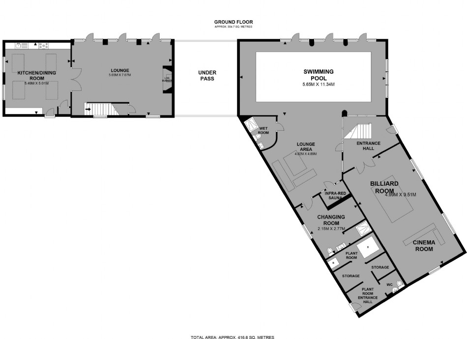 Floor plan of Weddings at Scarlet Hall